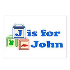 Baby Blocks John Postcards (Package of 8)