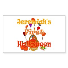 First Halloween Jeremiah Sticker (Rectangle)