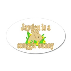Jayden is a Snuggle Bunny 38.5 x 24.5 Oval Wall Pe