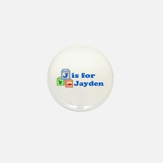 Baby Blocks Jayden Mini Button