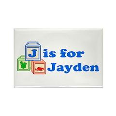Baby Blocks Jayden Rectangle Magnet