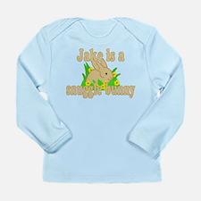 Jake is a Snuggle Bunny Long Sleeve Infant T-Shirt