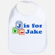 Baby Name Blocks - Jake Bib