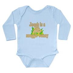 Jacob is a Snuggle Bunny Long Sleeve Infant Bodysu