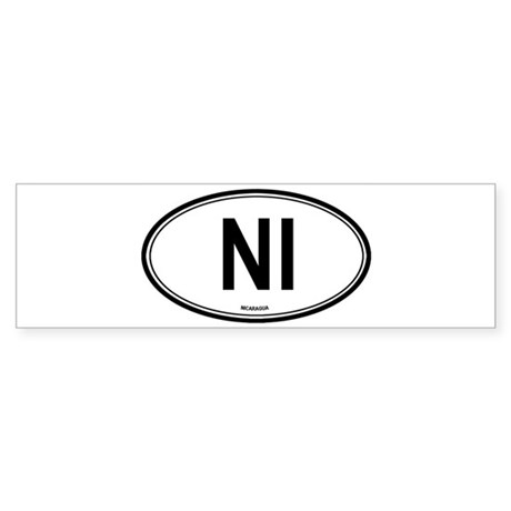Nicaragua (NI) euro Bumper Sticker