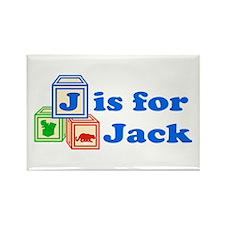 Baby Blocks Jack Rectangle Magnet