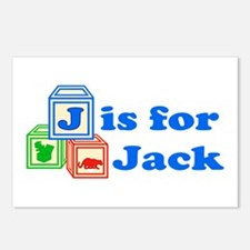 Baby Blocks Jack Postcards (Package of 8)