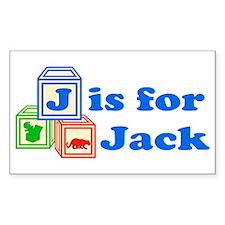 Baby Blocks Jack Decal
