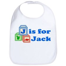 Baby Name Blocks - Jack Bib