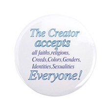 "All Accepting Creator 3.5"" Button (100 pack)"
