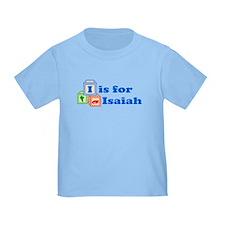 Baby Name Blocks - Isaiah T