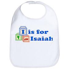 Baby Name Blocks - Isaiah Bib