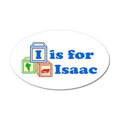 Baby Blocks Isaac 22x14 Oval Wall Peel