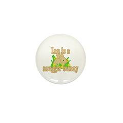 Ian is a Snuggle Bunny Mini Button (100 pack)