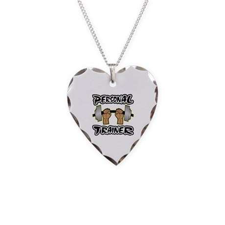 Personal Trainer Necklace Heart Charm