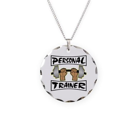 Personal Trainer Necklace Circle Charm