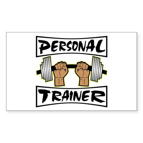 Personal Trainer Sticker (Rectangle)