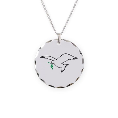 Dove is Love Necklace Circle Charm