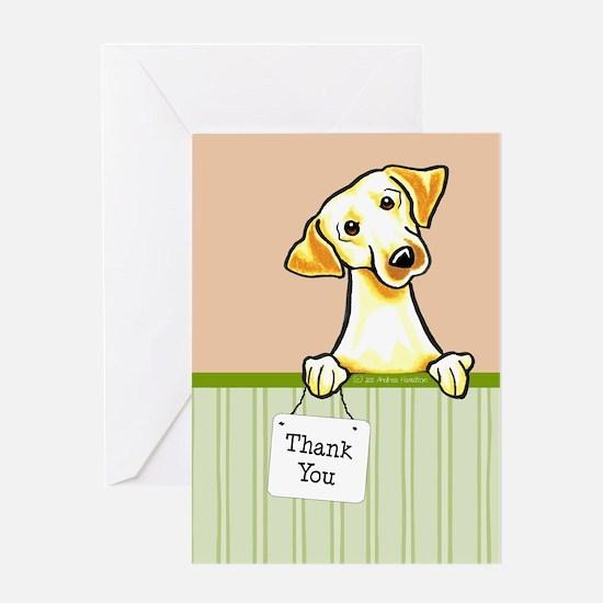 Yellow Lab TY Melon Greeting Card
