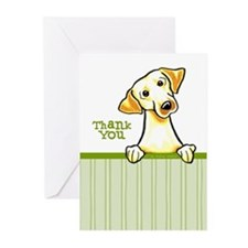 Yellow Lab Thank You Greeting Cards (Pk of 20)