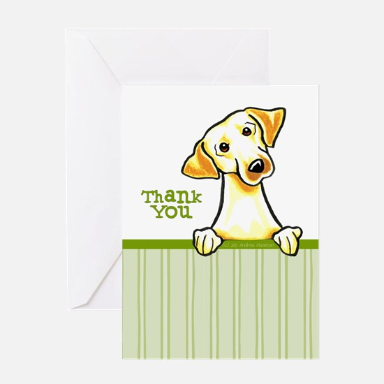 Yellow Lab Thank You Greeting Card