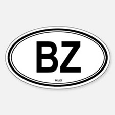 Belize (BZ) euro Oval Decal
