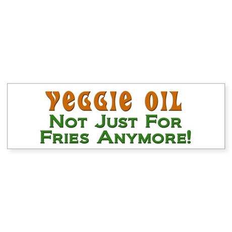 Veggie Oil Not Just For Fries Anymore!