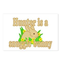 Hunter is a Snuggle Bunny Postcards (Package of 8)