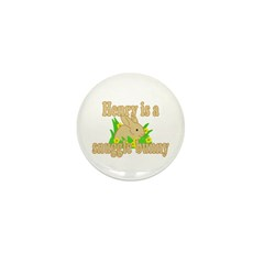 Henry is a Snuggle Bunny Mini Button (100 pack)