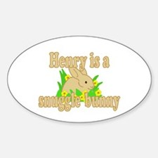 Henry is a Snuggle Bunny Decal