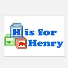 Baby Blocks Henry Postcards (Package of 8)