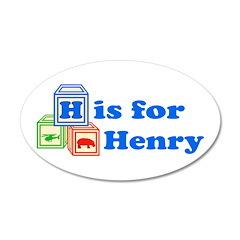 Baby Blocks Henry 38.5 x 24.5 Oval Wall Peel
