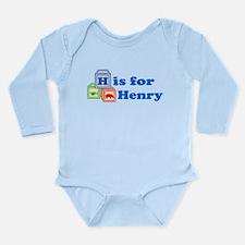 Baby Blocks Henry Long Sleeve Infant Bodysuit