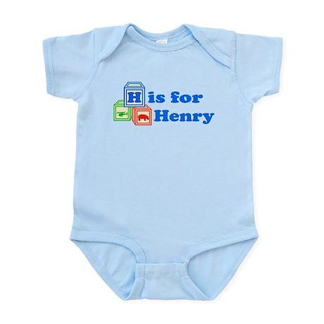 Baby Name Blocks - Henry Infant Bodysuit