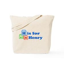 Baby Name Blocks - Henry Tote Bag