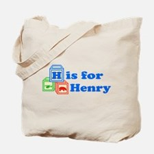 Baby Name Blocks - Henry Tote Bag