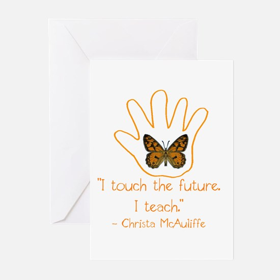 I Touch The Future. I Te Greeting Cards (Pk of 20)