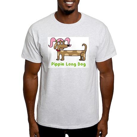 Pippie long dog Ash Grey T-Shirt