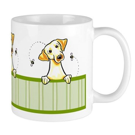 Yellow Lab Bee Nice Mug