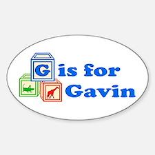 Baby Blocks Gavin Decal