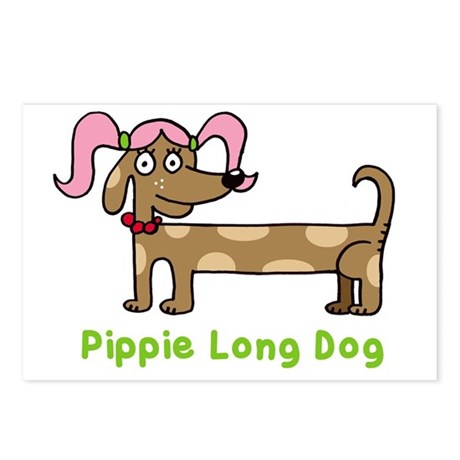 Pippie long dog Postcards (Package of 8)