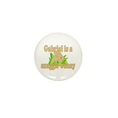 Gabriel is a Snuggle Bunny Mini Button (100 pack)