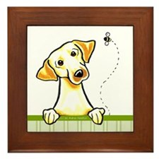 Yellow Lab Bee Nice Framed Tile