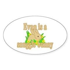 Evan is a Snuggle Bunny Decal
