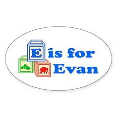 Baby Blocks Evan Decal