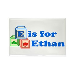 Baby Blocks Ethan Rectangle Magnet