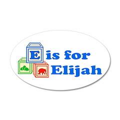 Baby Blocks Elijah 22x14 Oval Wall Peel