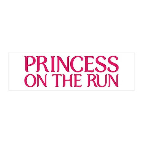 Princess on the run 21x7 Wall Peel