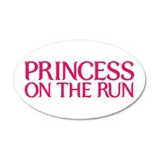 Princess on the run 22x14 Oval Wall Peel