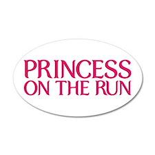 Princess on the run 22x14 Oval Wall Peel